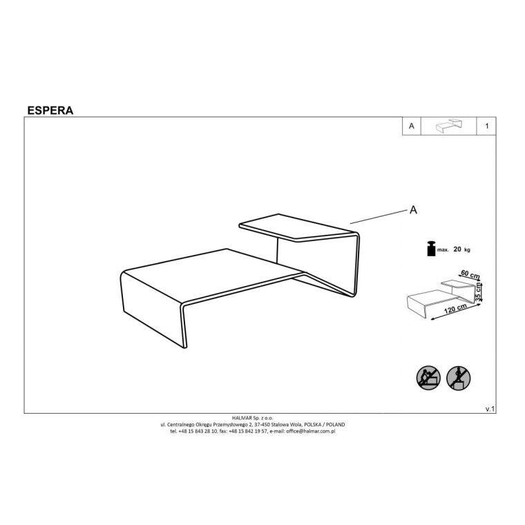 Стол журнальный Halmar Espera | Прозрачный - 2