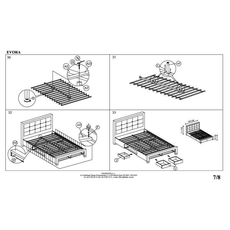 Кровать Halmar Evora | 160х200 /  Бежевый - 14