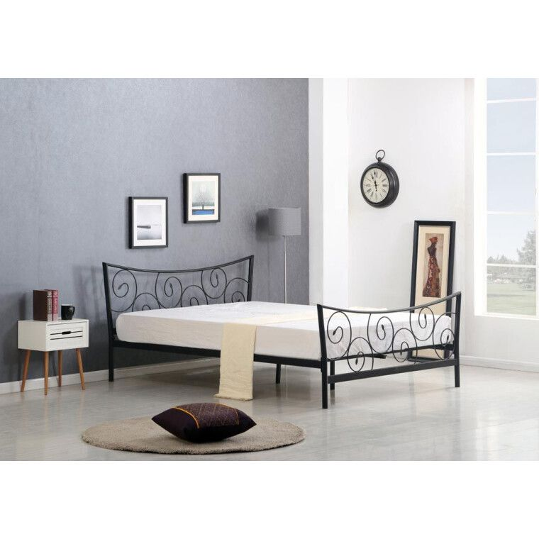 Ліжко Halmar Ramona | 120х200 / Чорний