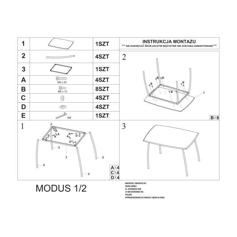 Набор мебели столовой Signal Modus | Дуб сонома - 2