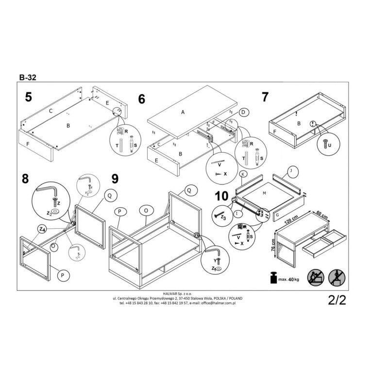 Стол письменный Halmar B-32 | Белый - 3