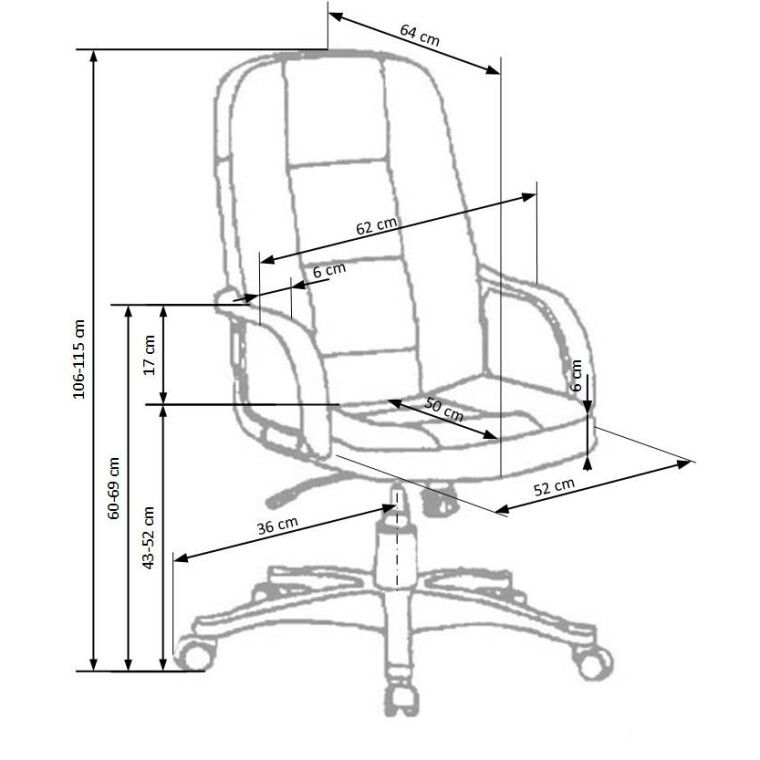 Кресло поворотное Halmar Expert   Черный / Натуральная кожа - 2