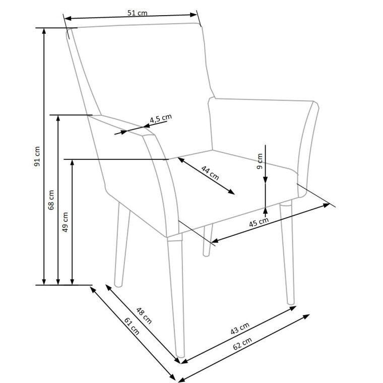 Стул Halmar K274  | Серый - 7