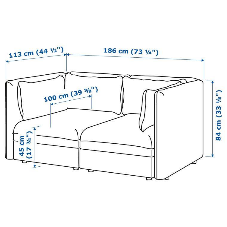 Модульная секция дивана VALLENTUNA - 10