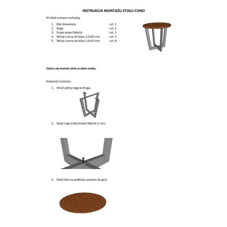 Стол обеденный Signal Cono | Дуб / черный - 4