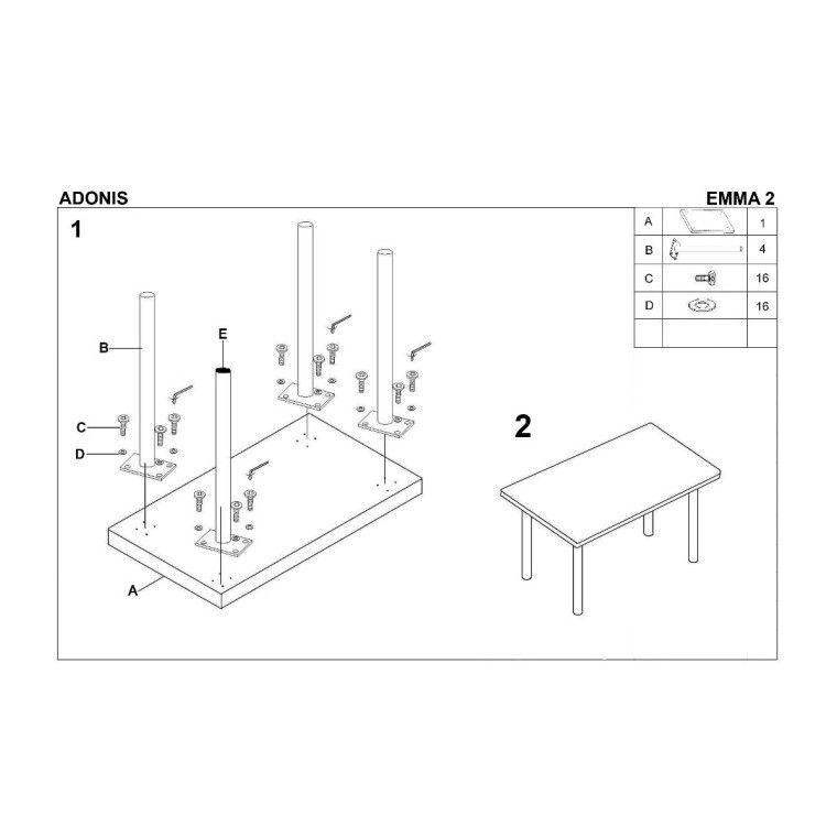 Стол обеденный Halmar Adonis | Белый - 2