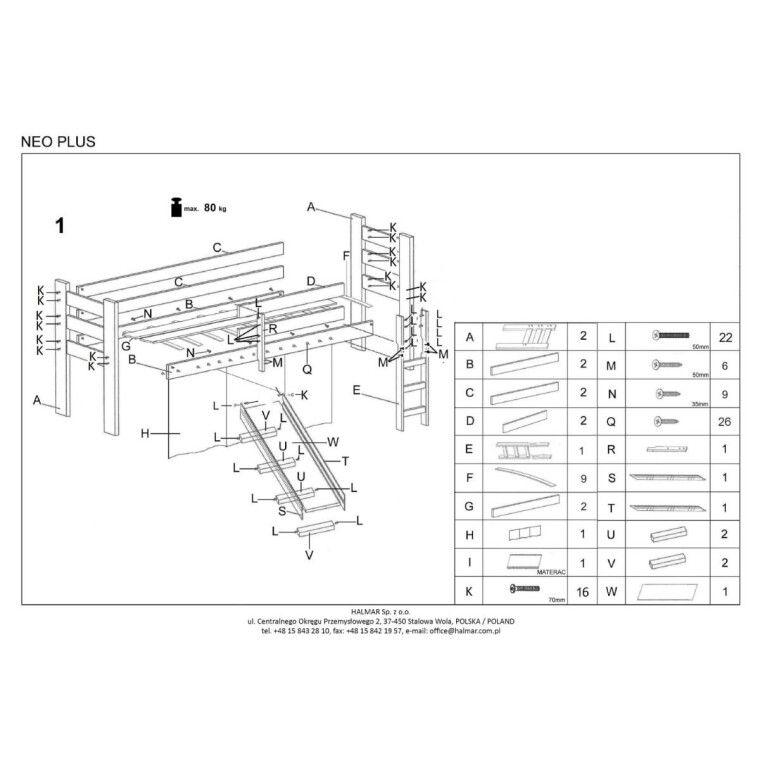Кровать двухъярусная с горкой Halmar Neo Plus | Сосна - 2