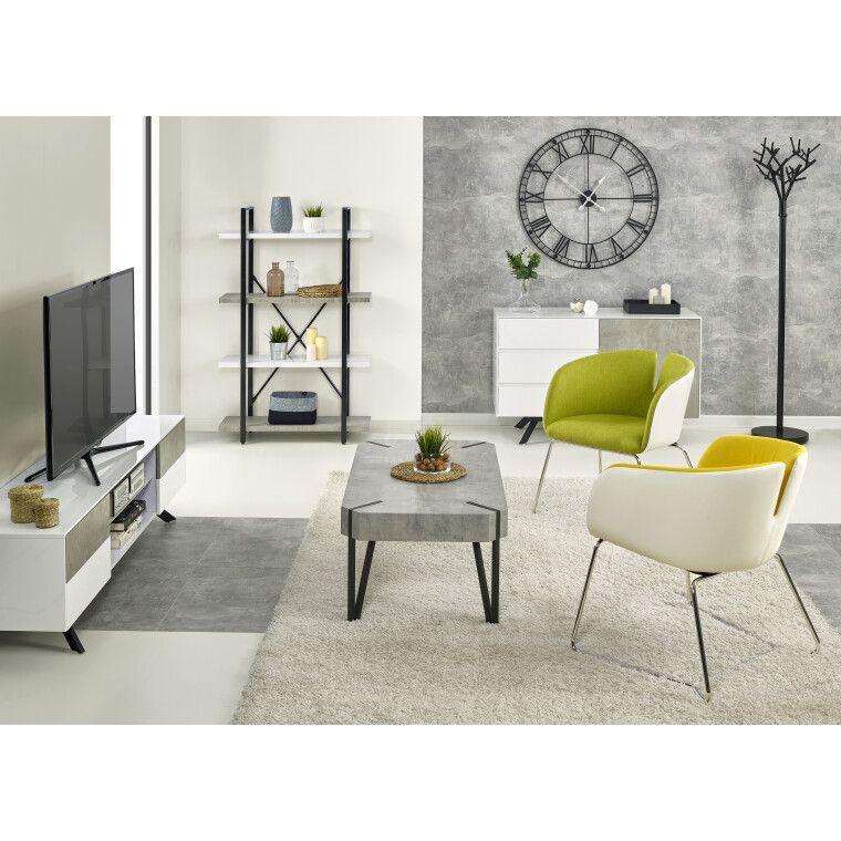 Комод Halmar Stonno КМ1 | Белый / бетон - 9