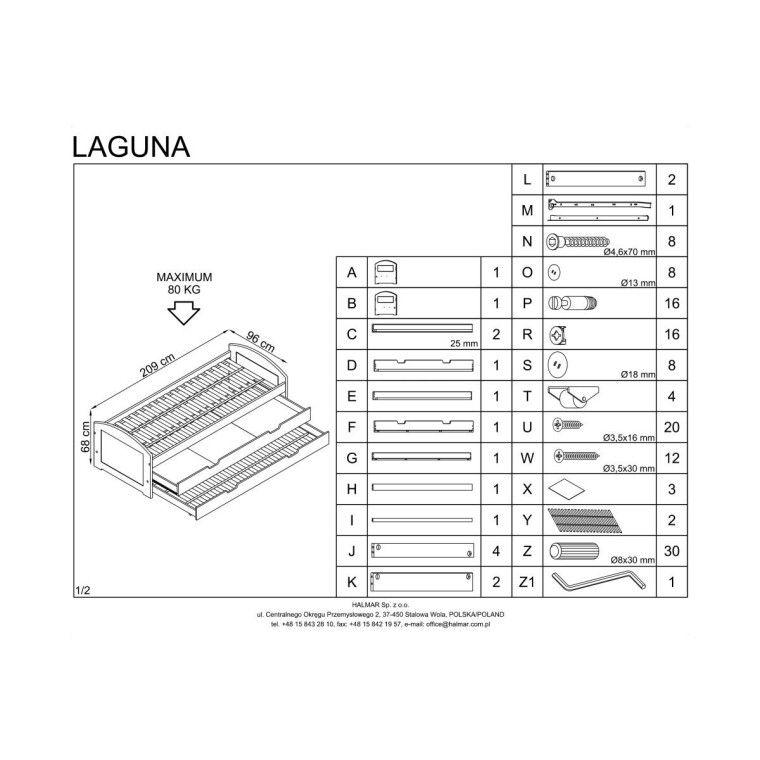 Кровать детская Halmar Laguna 2 | Белый - 2