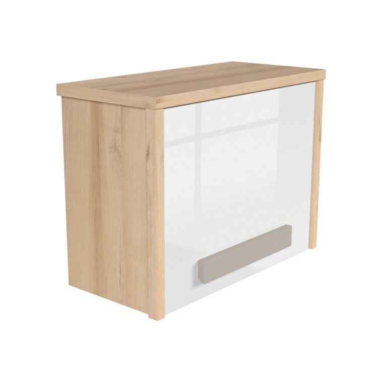 Шкаф навесной BRW Namek | Бук / Белый / Серый фото