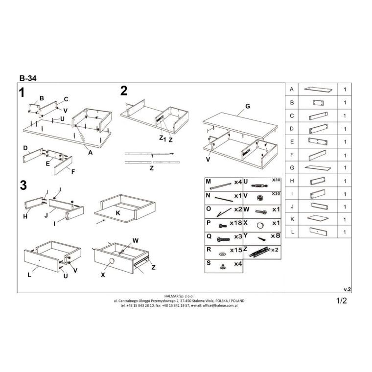 Стол письменный Halmar B-34 | Дуб Сонома / Белый - 6
