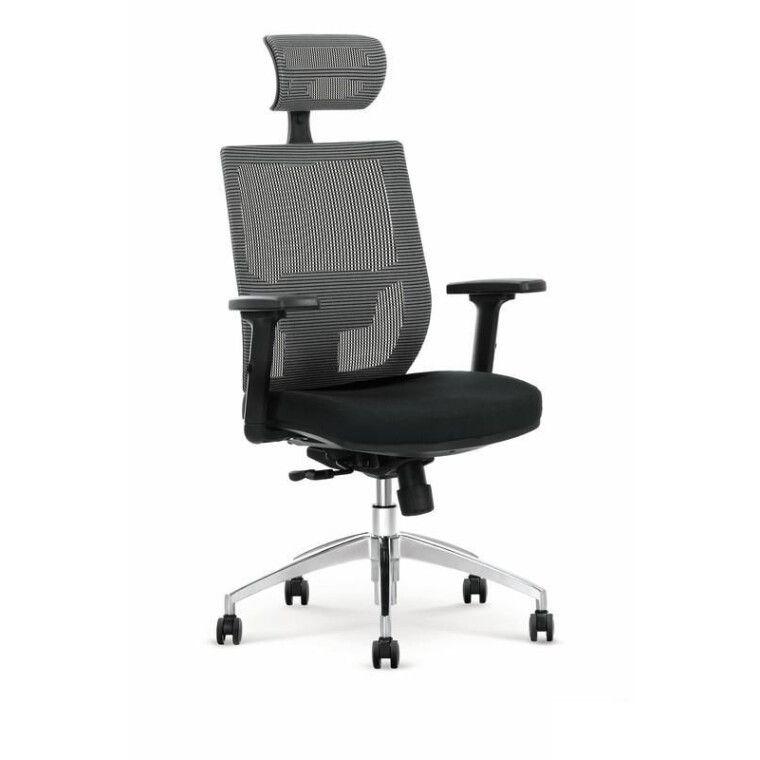 Кресло поворотное Halmar Admiral | Серый / Черный