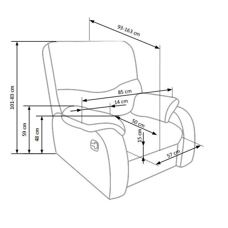 Кресло раскладное Halmar Jeff   Коричневый - 2
