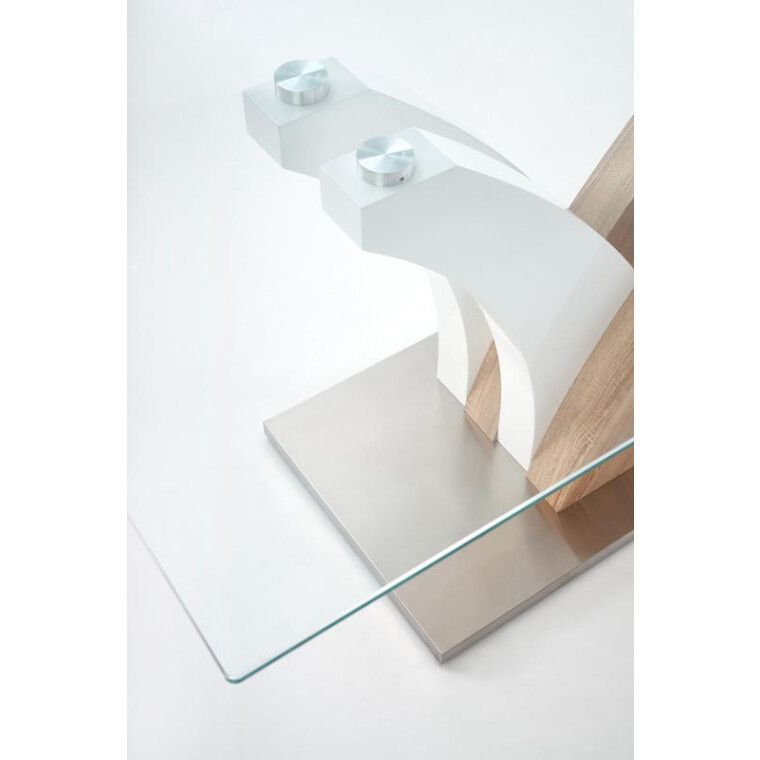 Стол обеденный Halmar Vilmer | Дуб сонома / белый - 9