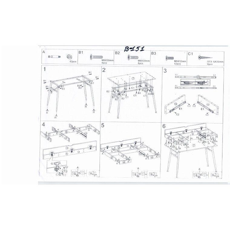 Стол письменный Signal B-151 | Дуб / белый - 5