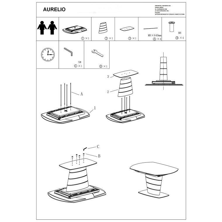 Стол обеденный Signal Aurelio | Белый - 2