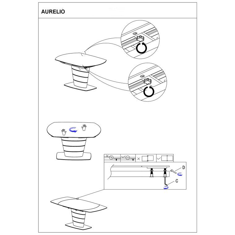 Стол обеденный Signal Aurelio   Белый - 3