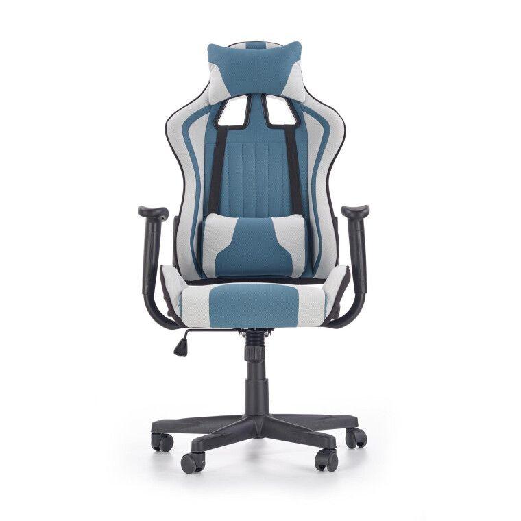Кресло поворотное Halmar Cayman | Серый / Бирюзовый - 6