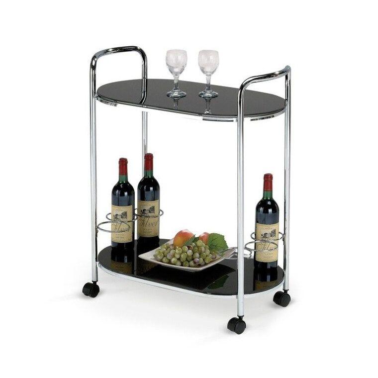 Стол сервировочный Halmar Bar-3 | Черный