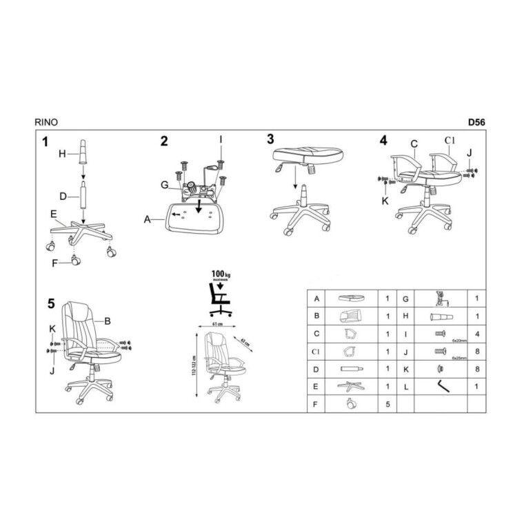 Крісло поворотне Halmar Rino | Сірий - 8