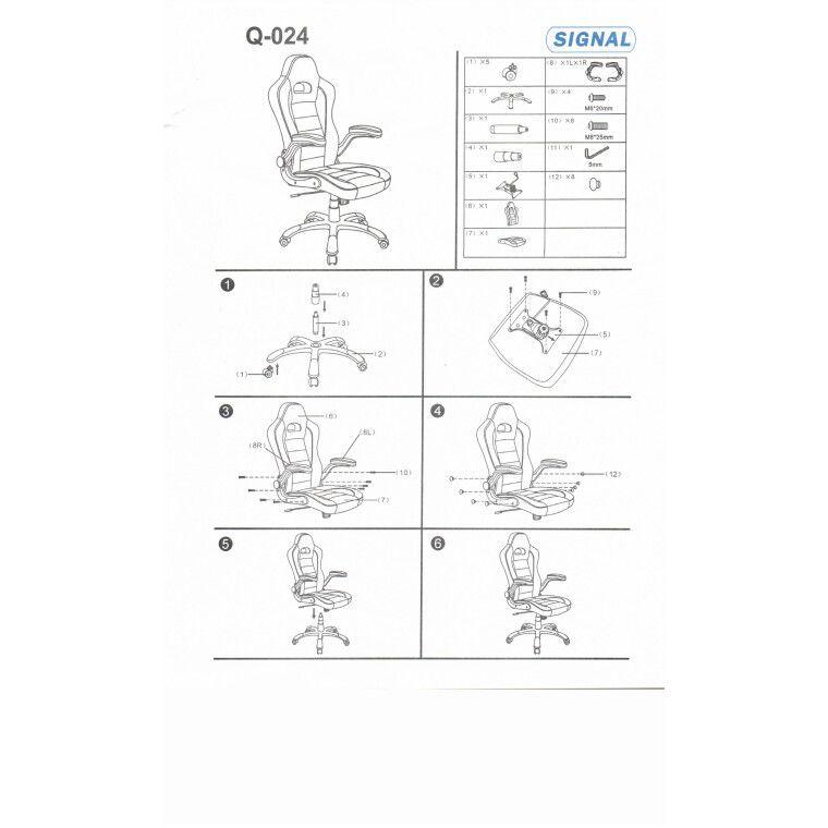 Кресло поворотное Signal Q-024   Черный / белый - 2