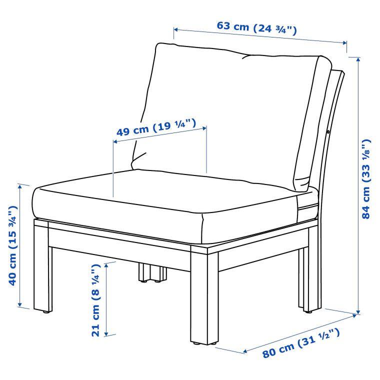 Кресло садовое ÄPPLARÖ - 3