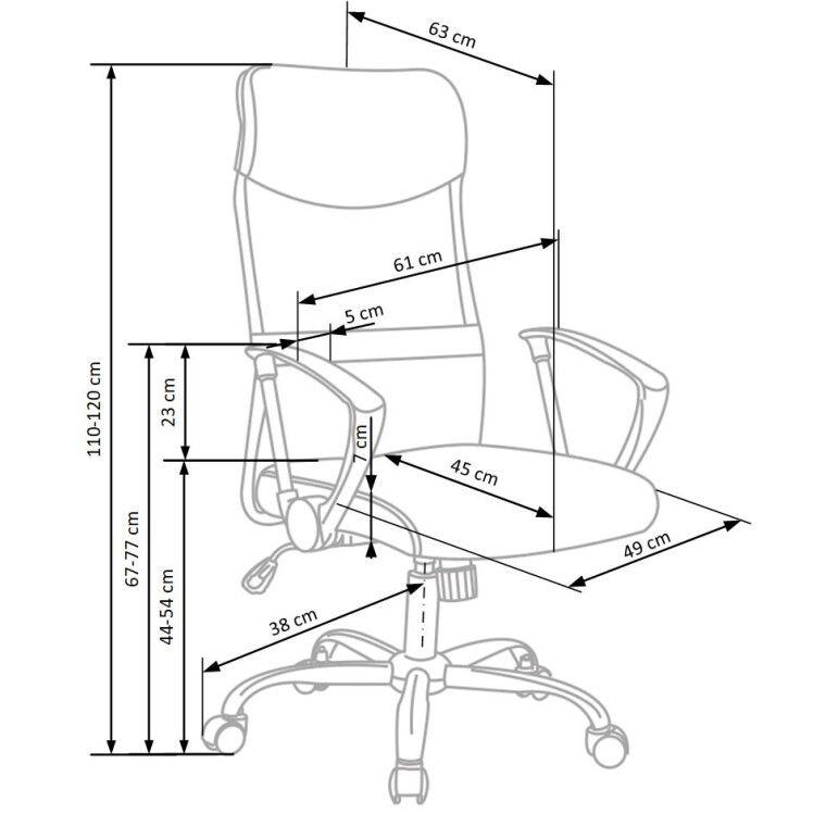 Кресло поворотное Halmar Vire 2    Серый - 2