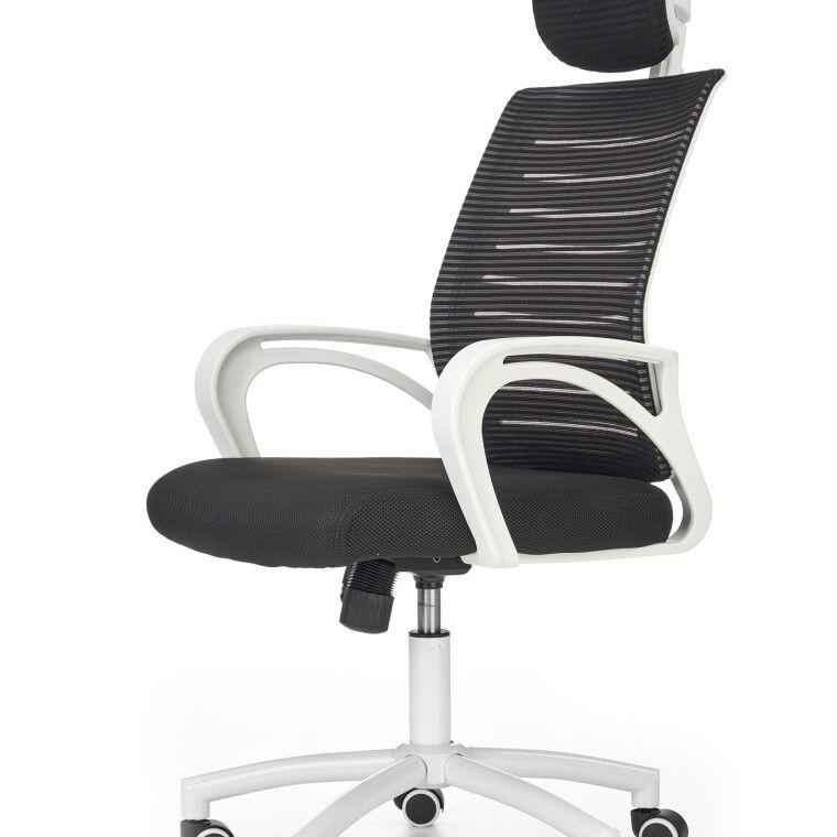 Крісло поворотне Halmar Socket | Чорний / Білий - 3