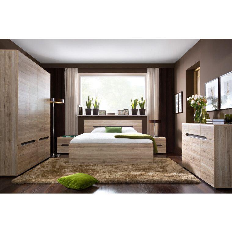 Кровать BRW Elpasso | 160x200 / Дуб сан-ремо светлый - 5