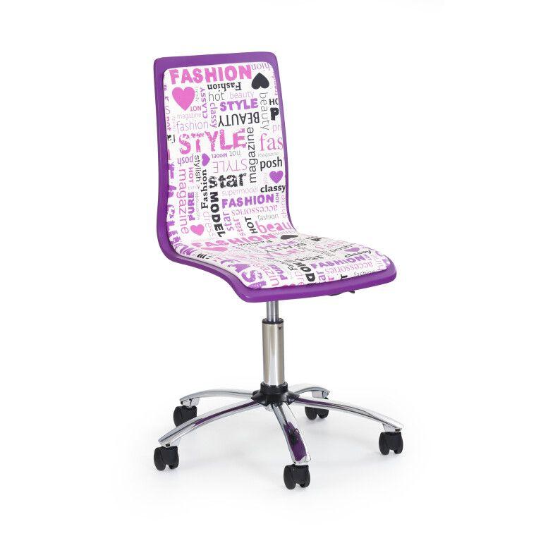 Кресло поворотное Halmar Fun-7 | Фиолетовый
