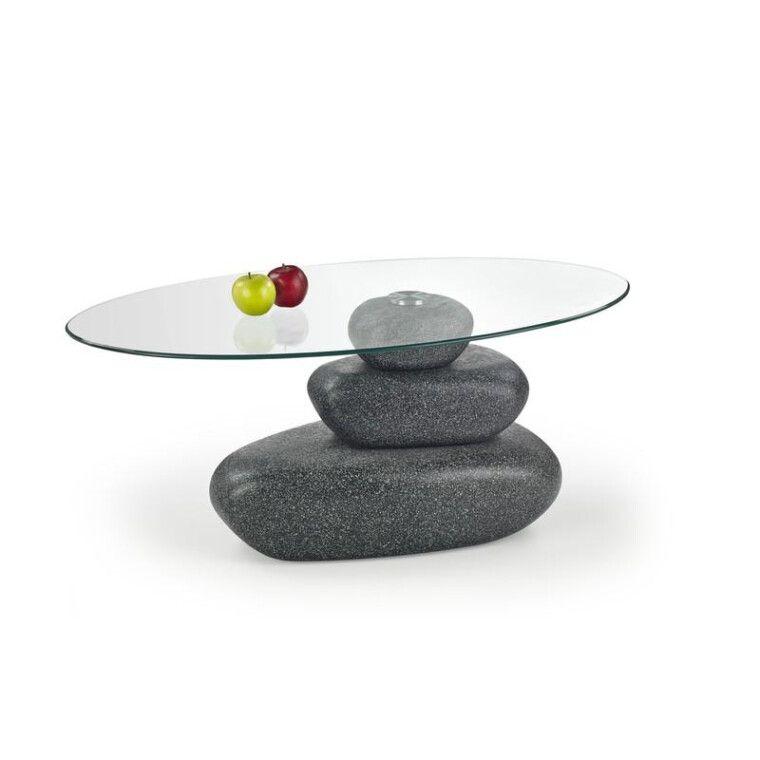 Стол журнальный Halmar Flavia | Серый (эффект камня)