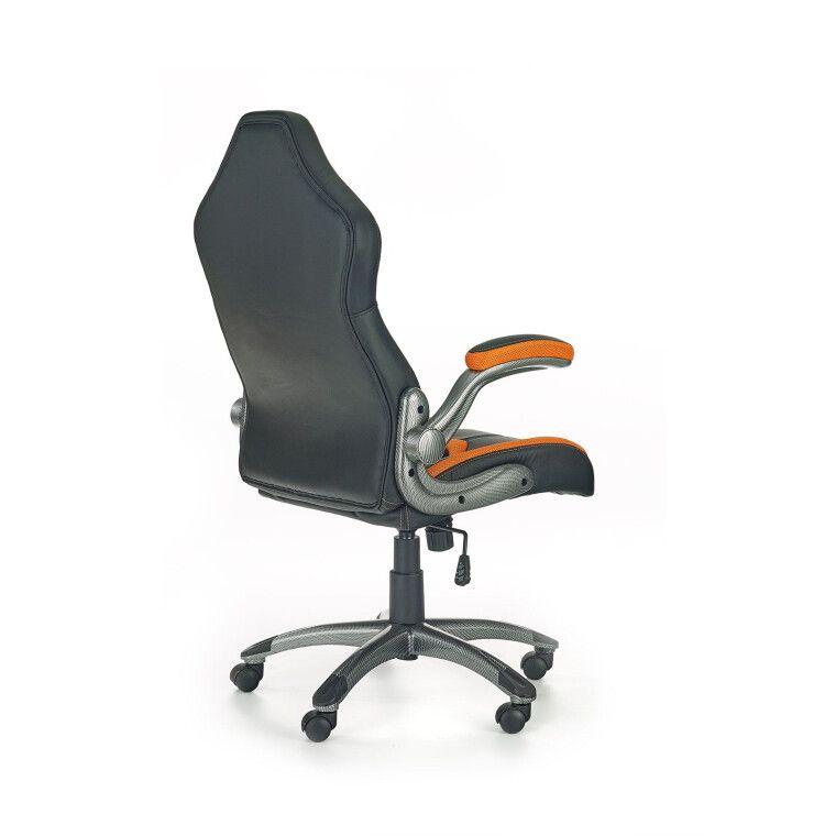 Кресло поворотное Halmar Cobra | Черный / оранжевый - 2