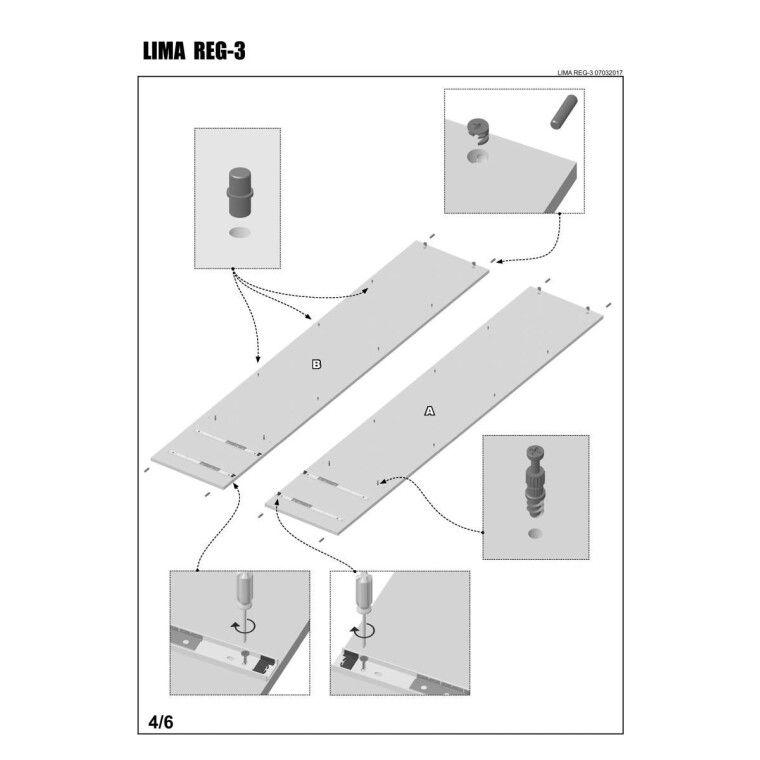 Стеллаж Halmar Lima Reg-3 | Дуб Сонома - 6