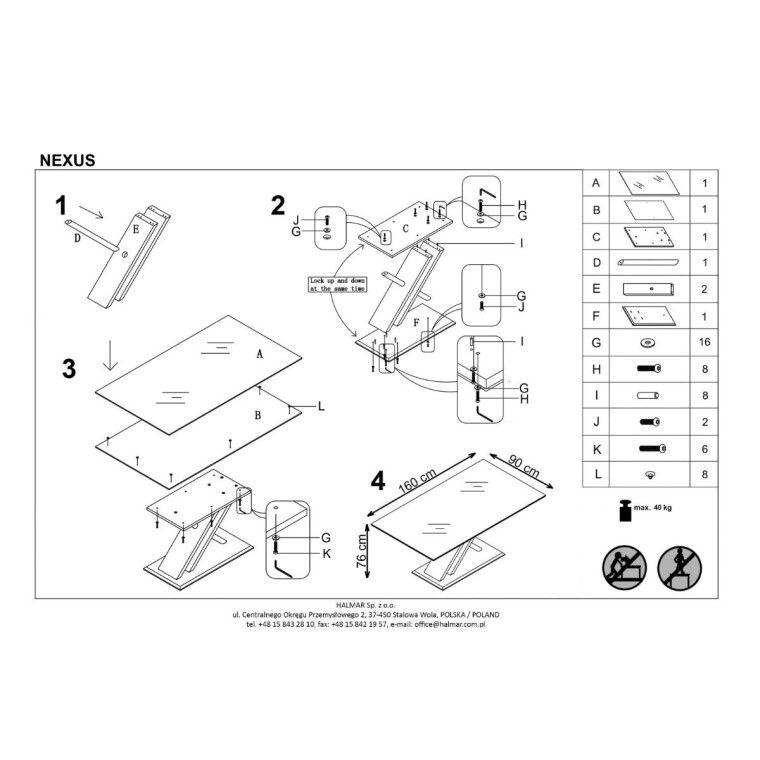 Стол обеденный Halmar Nexus | Дуб Сонома / Белый - 2