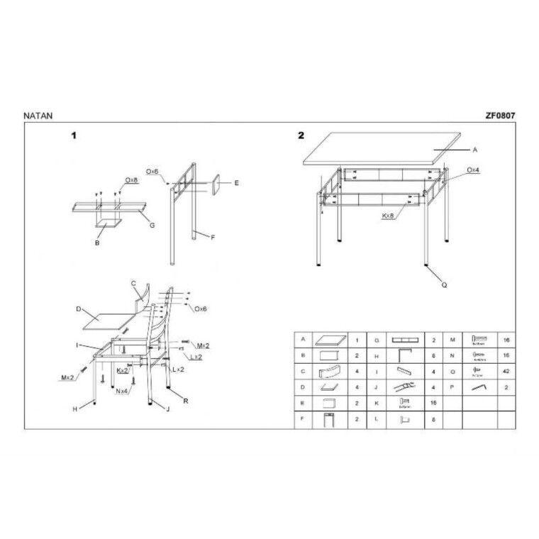 Набор мебели столовой Halmar Natan | Орех - 2