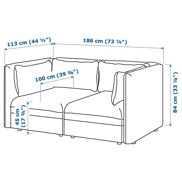 Модульная секция дивана VALLENTUNA - 2