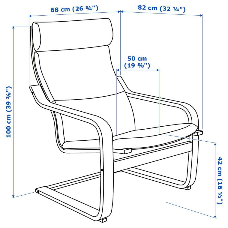 Кресло POÄNG - 7