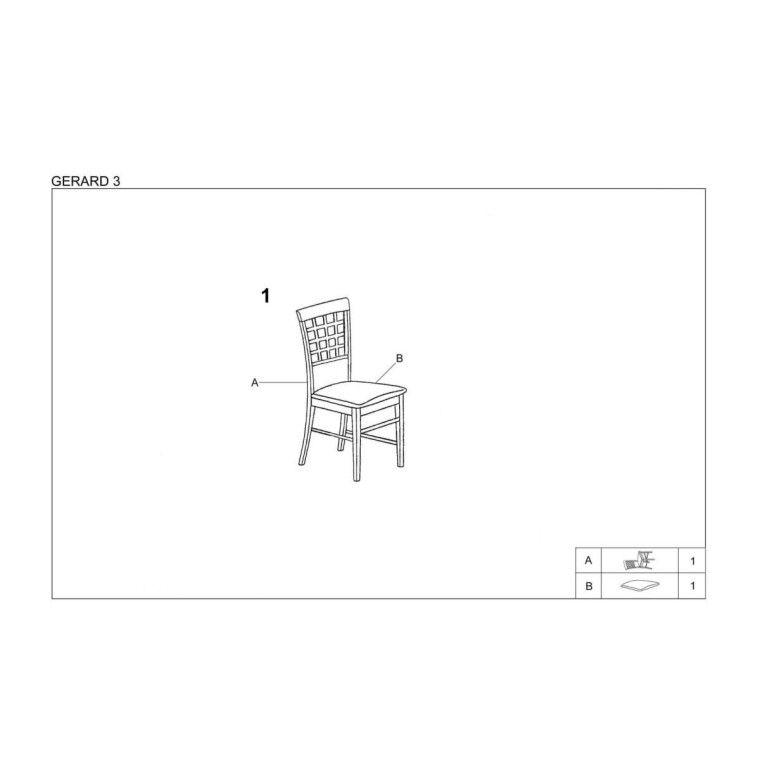 Стул кухонный Halmar Gerard 3   Дуб сонома / Серый (Inari 23) - 3