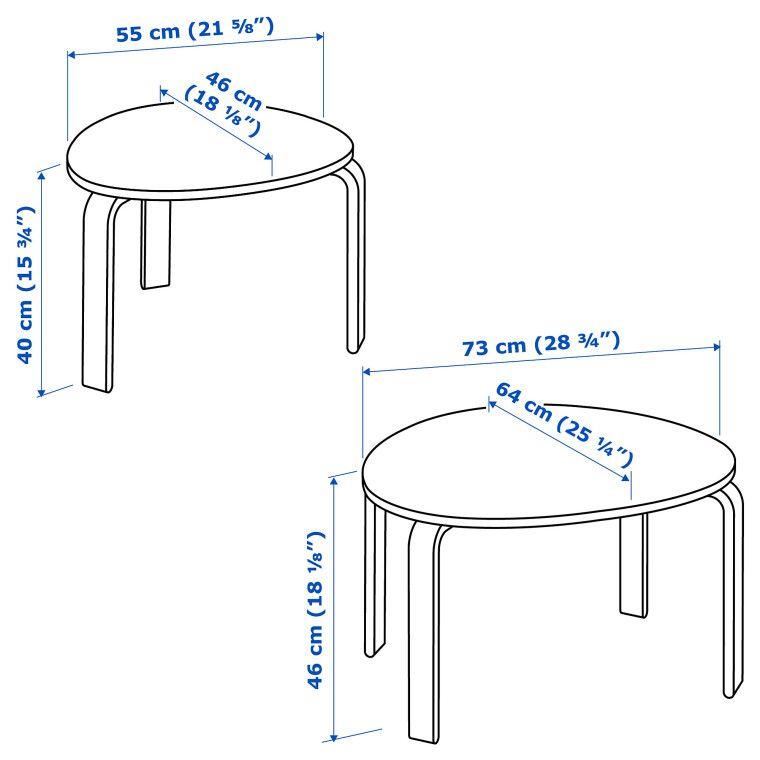 Комплект столиков SVALSTA - 7