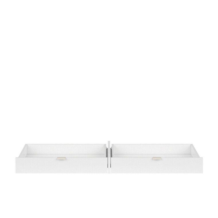 Ящик для стола BRW Princeton   Белый / Дуб польский / Серый