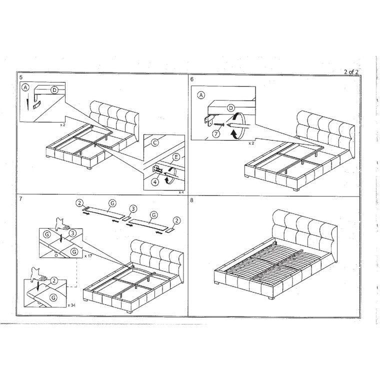 Кровать Signal Bolonia   160х200 / Каппучино / Хром - 3