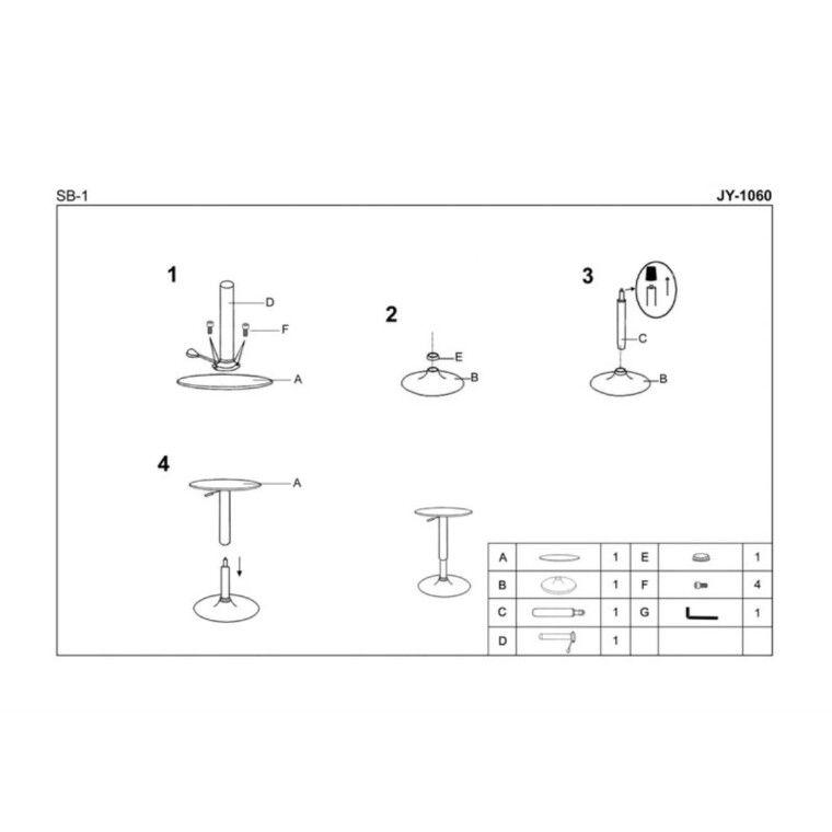 Стол барный Halmar SB-1 | Белый - 2