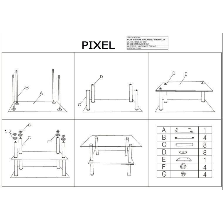 Столик журнальный Signal Pixel B | 45x90 - 2