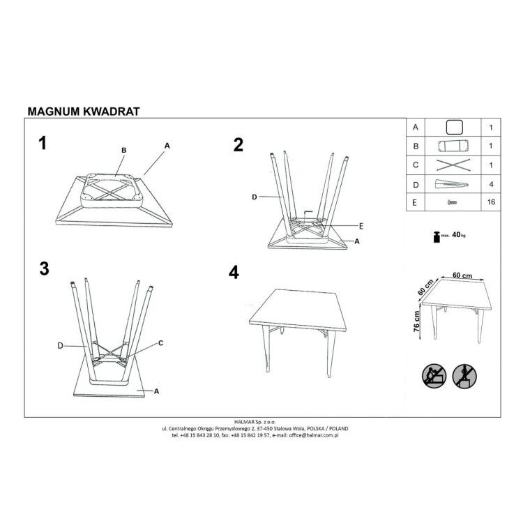 Стол обеденный Halmar Magnum квадратный | Медный - 2