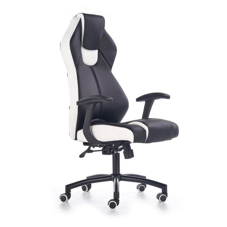 Кресло поворотное Halmar Torano | Черный / белый - 7