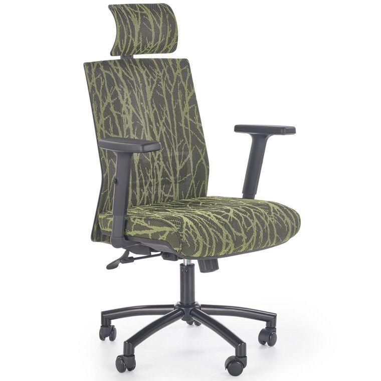 Кресло поворотное Halmar Tropic   Зеленый / Черный фото