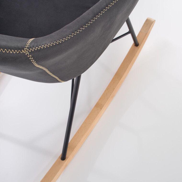 Кресло-качалка Halmar Lagos | Серый - 7