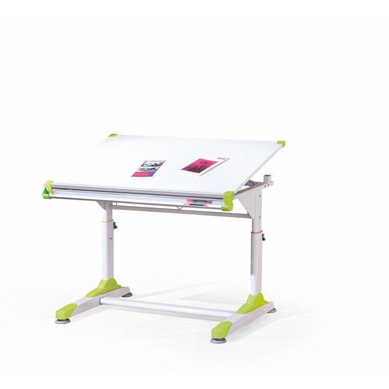 Стол детский Halmar Collorido | Белый / зеленый / розовый - 3