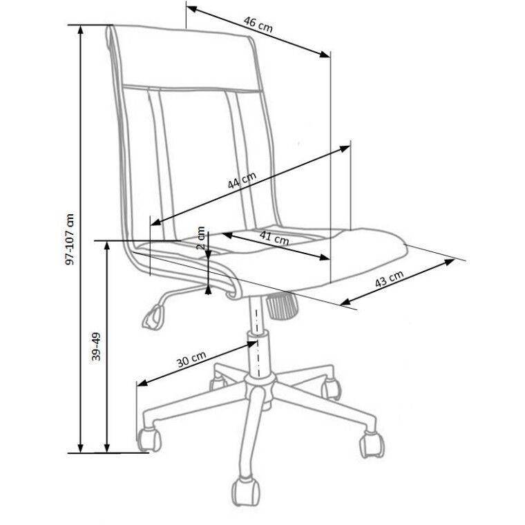 Кресло поворотное Halmar Tirol | Белый - 4