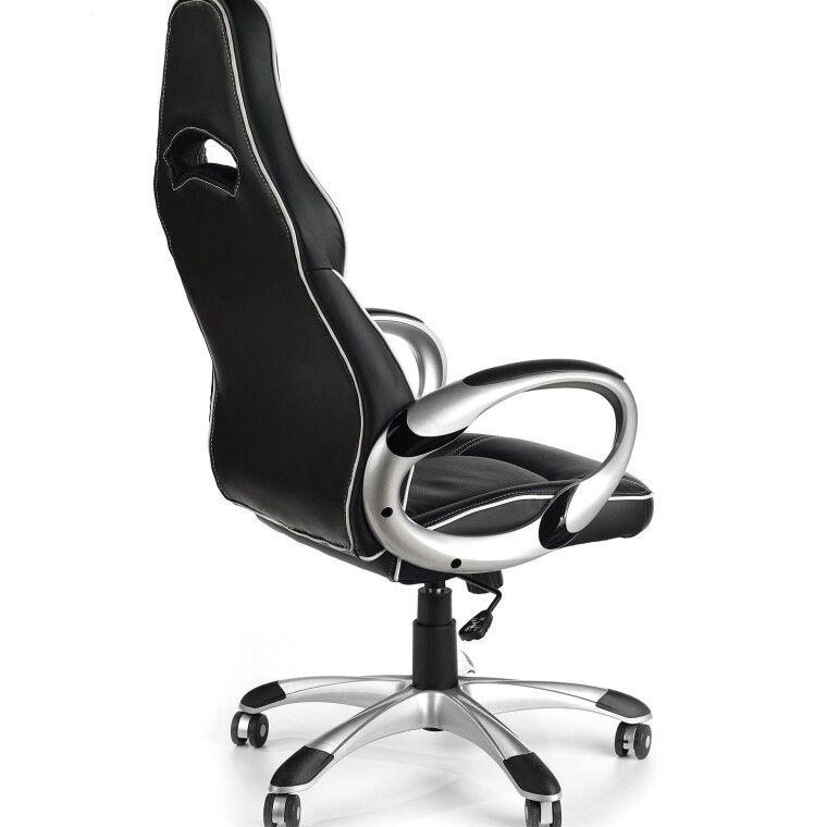 Кресло поворотное Halmar Deluxe | Черный / Белый - 2